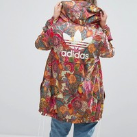 adidas Farm Bright Floral Print Festival Windbreaker Jacket at asos.com