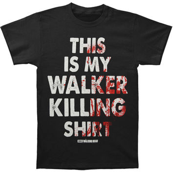 Walking Dead Men's  Walker Killing T-shirt Black Rockabilia