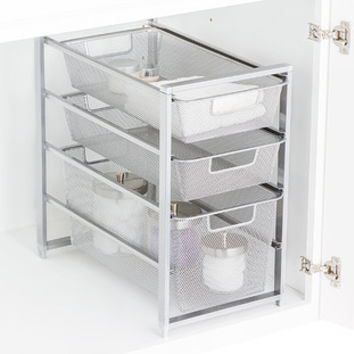 Platinum Cabinet-Sized elfa Mesh Drawer Solution