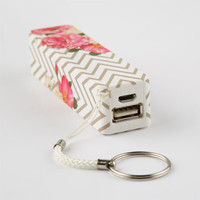 Audiology Chevron Floral Portable Phone Charger White Combo One Size For Women 25429716701