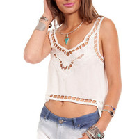 Reverse Lily Cropped Tank $48