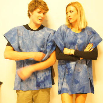 Wet Blanket - Funny Idiom Adult Halloween Costume perfect as Women's Men's unique creative Haloween Costume Easy & simple fits all sizes