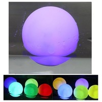 10PCS LED Mood Light Garden Deco Flashing Ball RGB Color Change Floating Light fr Pool Ponds&Parties