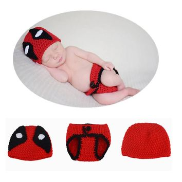 OB Crochet Deadpool Baby Photo Prop