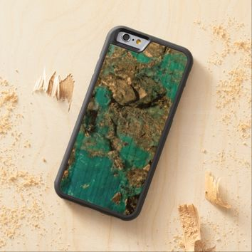 Natural Turquoise Stone Carved® Cherry iPhone 6 Bumper Case