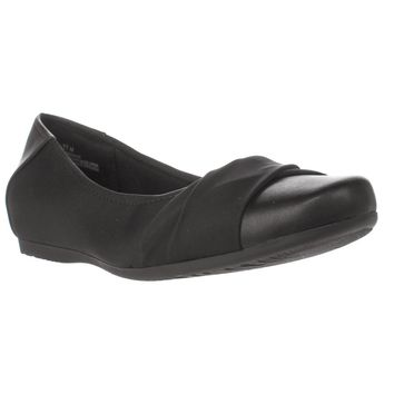 BareTraps Mitsy Hidden Wedge Flats, Black, 7 US