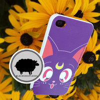 Sailor Moon LUNA Kawaii Cat iPhone 5 5s 5c 4 4s Samsung Galaxy S3 S4 S5 Note 3 Case