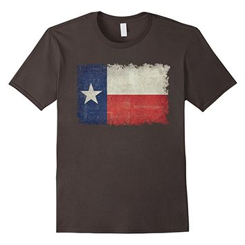 Vintage Retro Texas Flag T-Shirt with knocked out edges