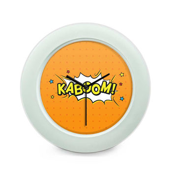 Kaboom Comic Sound Quirky Illustration Table Clock