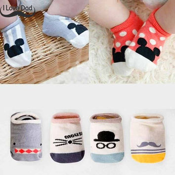 Cotton Cute Baby Boys Girls Socks Fashion Cartoon Soft Floor Baby Sock