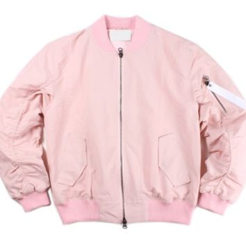 MILITARY BOMBER JACKET PINK