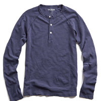 Weathered Henley in Naval Blue