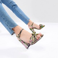 ASOS HAZELLE Bow Block Heels at asos.com
