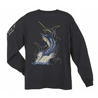 Guy Harvey Swordfish Strike Men's Long Sleeve T-shirt