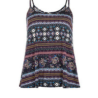Purple Tapestry Print Cami