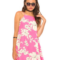 Motel Sun Slip Dress in Paradise Candy Pink