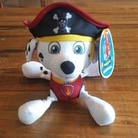 "NEW Paw Patrol Pirate Pups Marshall Plush Stuffed Animal Paw Patrol 8"" Plush"