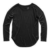 Women's Long Sleeve Workout Top in TNF Black by The North Face - FINAL SALE