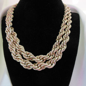 Vintage Necklace West Germany Gold Chain Double Layer