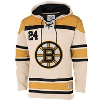 Old Time Hockey Boston Bruins Stone Home Lace Heavyweight Hoodie