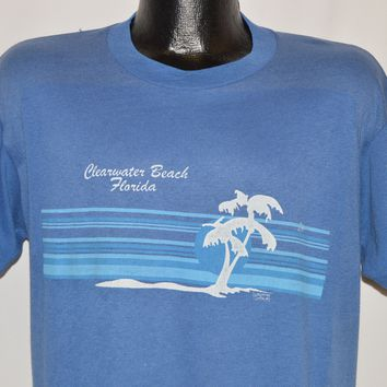 80s Clearwater Beach Florida Tourist t-shirt Large