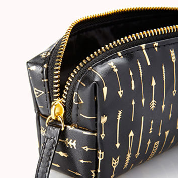 Arrow Print Small Cosmetic Pouch