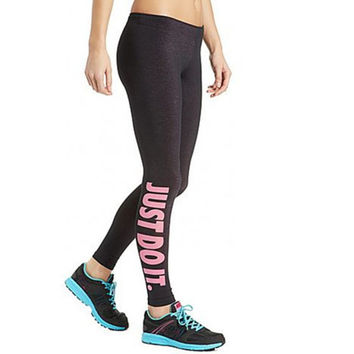 S-XL Women's Harajuku Work Out Letter Printed Black Fitness Leggings Casual Sexy Modal Quick Drying Leggings