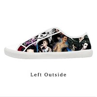 Custom BLACK VEIL BRIDES Andy Andrew Biersack Women's Canvas Shoes Fashion Shoes for Women
