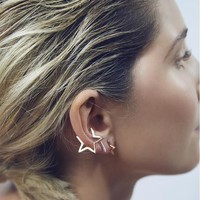 SMJEL 2017 New Fashion Simple Vintage Geometric Star Earrings for Women Brincos Birthday Dropshipping Gifts S101