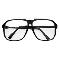 Oversize Nerd Retro Square Clear Lens Glasses 2949