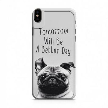Wise Pug Quote iPhone X case