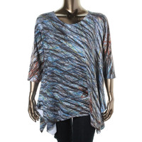 Nally & Millie Womens Plus Jersey Scoop Neck Tunic Top