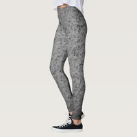 Concrete Texture Abstract Grey Vintage Grunge Leggings