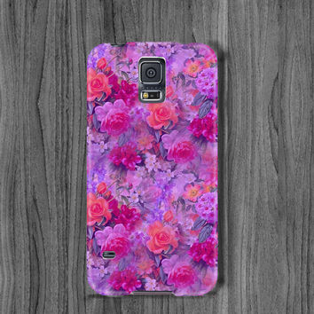 Floral Samsung s6 case galaxy s6 edge case s5 mini case rose note 4 case lilac flower note 3 case s4 case rose s5 case galaxy s3 case