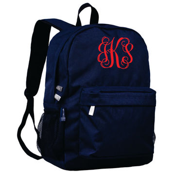 Monogram Backpack and Lunch Bag Set - Wildkin - Personalized - Whale Blue - Back to School Crackerjack