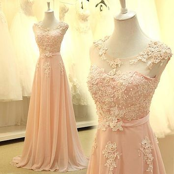 2017 Cheap Long Lace Red Light Pink Aqua Ice Blue Yellow Blush Prom Dress Bridesmaid Dress