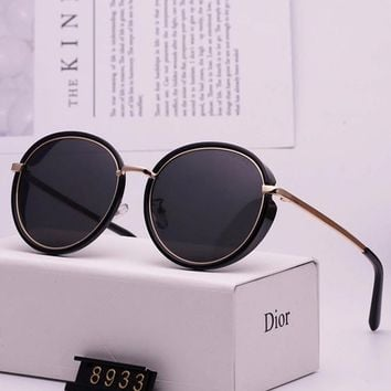 DIOR 2019 new tide brand female anti-UV round frame color film polarized sunglasses #2