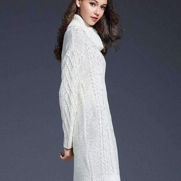 MY MALL METRO  Women Long-Sleeve Womens Turtleneck Knitted Sweater  Check Homepage for Promo Codes! <