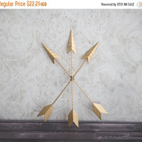FALL SALE 3 Gold Metal Arrows Wall Decor Home Decor Tribal Arrow Wall Art