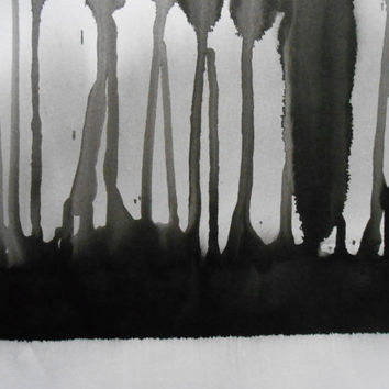 "A3 Ethereal Hand Painted Abstract Ink Wash Painting 11.7x16.5 "" Before Yesterday 850"""