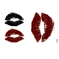 Lips temporary tattoo  sticker bloody sexo tatoo sticker car styling tatuagem harajuku henna tattoo sleeves sexy products praia