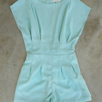 Cape Cod Romper in Mint [5703] - $42.00 : Vintage Inspired Clothing & Affordable Dresses, deloom | Modern. Vintage. Crafted.