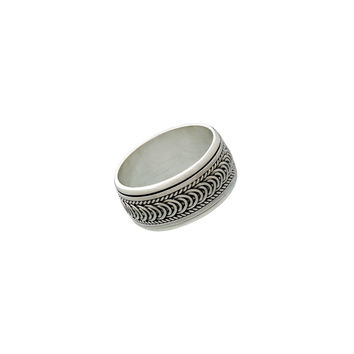 Sigma Infinity Sterling Silver Spinner Ring