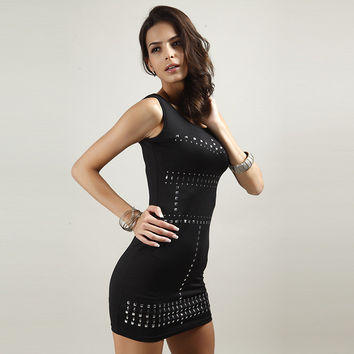 Hot Sale Sexy Sleeveless One Piece Dress [10239064019]