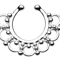 Majestic Ornate Filigree Fake Septum Ring