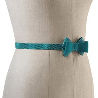 White House | Black Market Lotus Suede Bow Stretch Belt