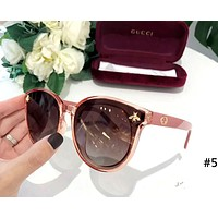 GUCCI 2019 new style brand female personality small bee beach polarized sunglasses #5