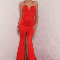 Milan Gown Red