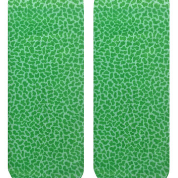 Pebble Green Ankle Socks