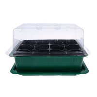 12 Cells Hole Plant Seeds Seeding Kit Grow Box Tray Cloning Insert Propagation (Size: 20cm by 15cm by 13cm)
